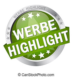 Button with banner Werbehighlight