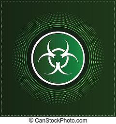 Button with biohazard symbol