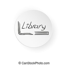 button with book