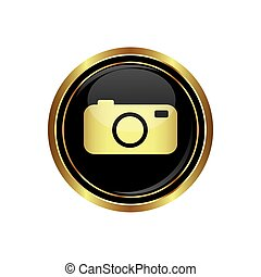 Button with camera Icon