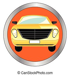 Button with car