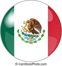 button with flag mexico - illustration of a button with flag...