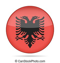 button with flag of Albania