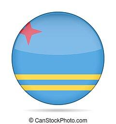 button with flag of Aruba