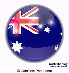 Button with flag of Australia.