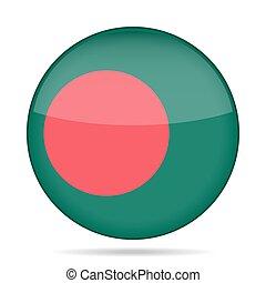 button with flag of Bangladesh