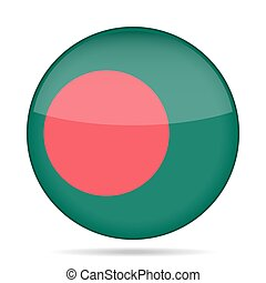 button with flag of Bangladesh