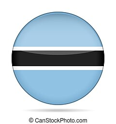 button with flag of Botswana