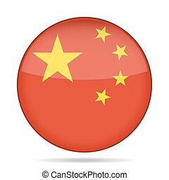button with flag of China