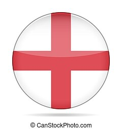 button with flag of England