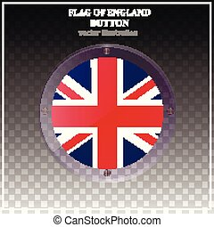 Button with flag of England. Happy England day background.