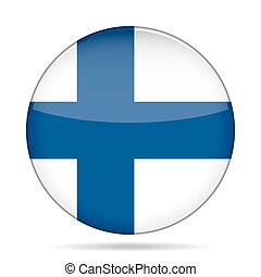 button with flag of Finland