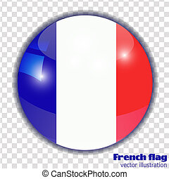 Button with flag of France.