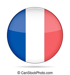 button with flag of France