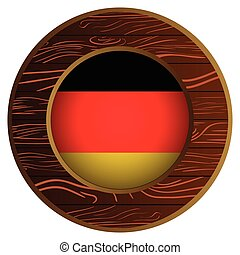 Button with flag of germany