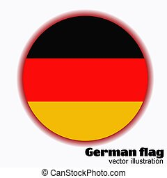 Button with flag of Germany. Vector.