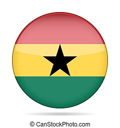 button with flag of Ghana