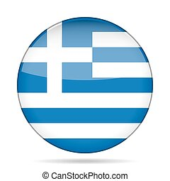 button with flag of Greece