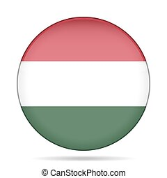 button with flag of Hungary