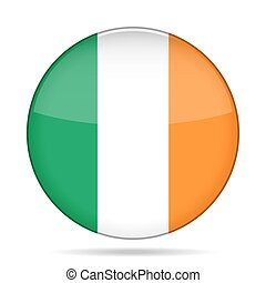 button with flag of Ireland