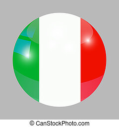 Button with flag of Italy.