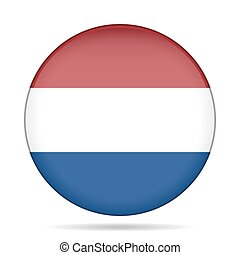 button with flag of Netherlands
