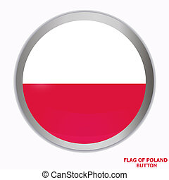 Button with flag of Poland.
