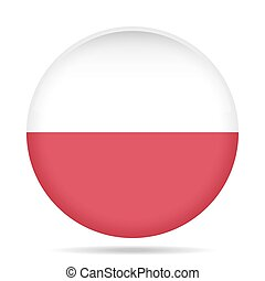 button with flag of Poland