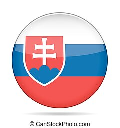 button with flag of Slovakia