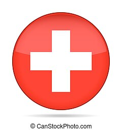 button with flag of Switzerland