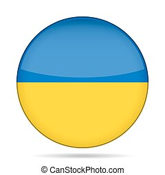 button with flag of Ukraine