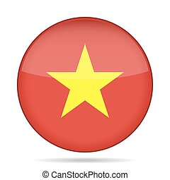 button with flag of Vietnam