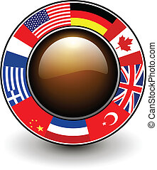 Button with flags around