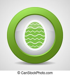 button with green Easter egg