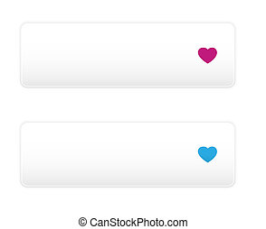 button with heart icon