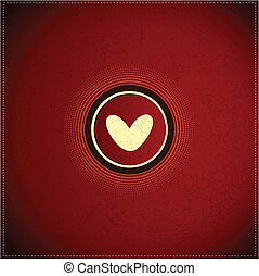 Button with heart
