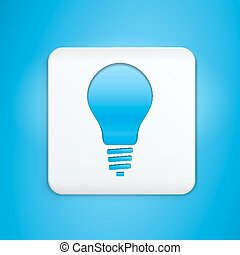 Button with light bulb symbol