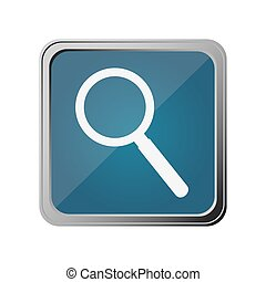 button with magnifying glass with background blue