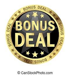 Button with text Bonus Deal