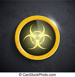 button with the biohazard symbol