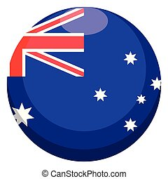 Button with the flag of Australia