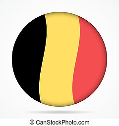 button with waving flag of Belgium