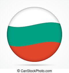button with waving flag of Bulgaria