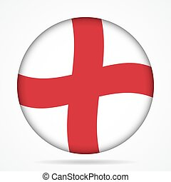 button with waving flag of England