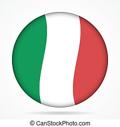 button with waving flag of Italy