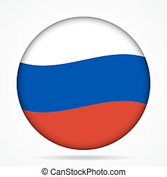button with waving flag of Russia
