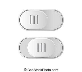 button., witka, ikona, od, dźwignia kolankowa