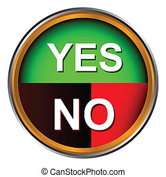 Button yes and no