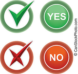 Button Yes and No.