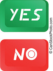Button yes-no